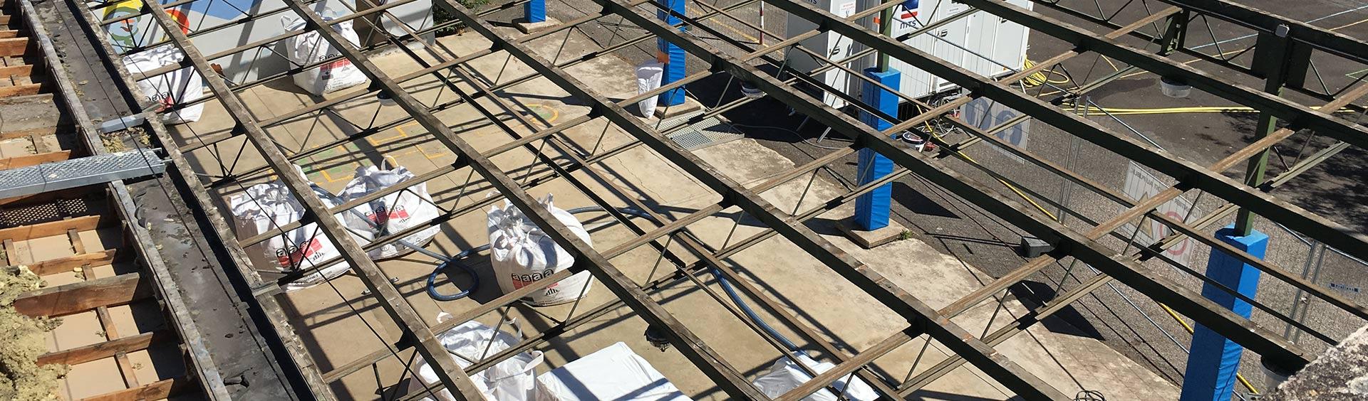 Retrait de toitures en fibro-ciment amiantées